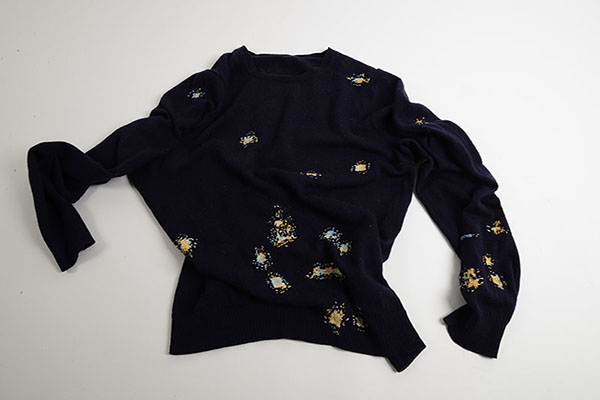 Bridget Harvey Blue Jumper